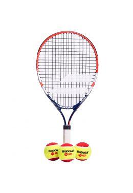 Теннисная ракетка детская 5-7 лет Babolat KIT RG/FO JR21 + 3 RED FELT BALLS