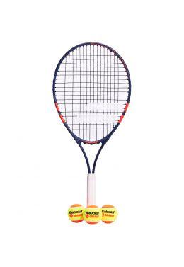 Теннисная ракетка детская 7-10 лет Babolat KIT RG/FO JR25 + 3 ORANGE BALLS