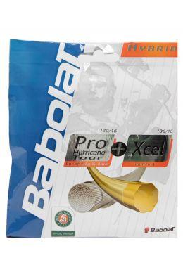 Теннисные струны для ракетки Babolat HYBRID PHT 130 + XCEL 130 (Комплект,12 метров)