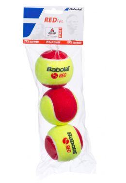 Мячи теннисные Babolat RED FELT X3 (Банка,3 штуки)