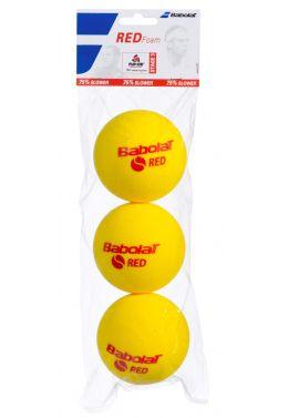 Мячи теннисные Babolat RED FOAM X3 (Банка,3 штуки)