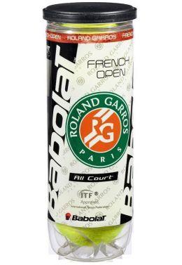 Мячи теннисные Babolat BALL RG/FOAC X3 (Банка ,3 штуки)