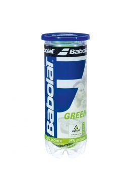 Мячи теннисные Babolat GREEN X3 (Банка,3 штуки)