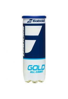 Мячи теннисные Babolat GOLD ALL COURT X3 (Банка,3 штуки)