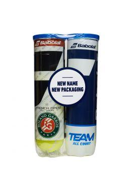 Мячи теннисные Babolat BIPACK RG/FO TEAM AC X4 (2 банки,4)